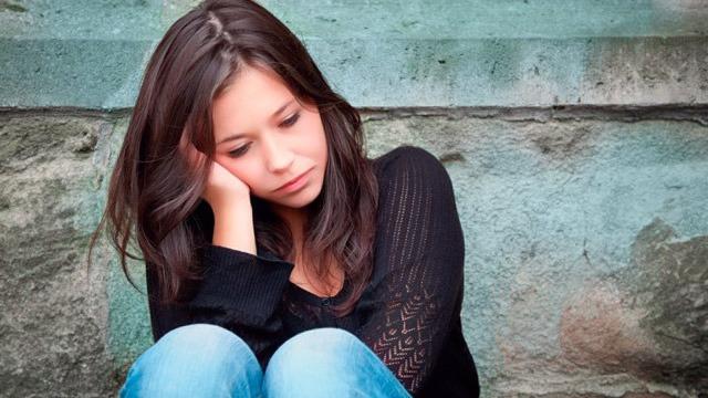 Mujer con Trastorno disfórico premenstrual