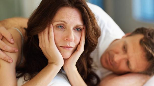 Una mujer con trastorno por el periodo de la menopausia