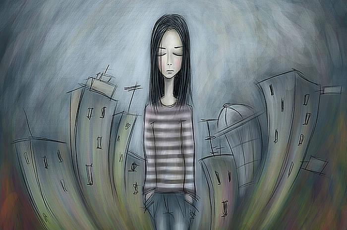 Mujer con complejo de inferioridad