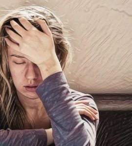 Los pensamientos negativos y la ansiedad en alguien que duerme ppoco