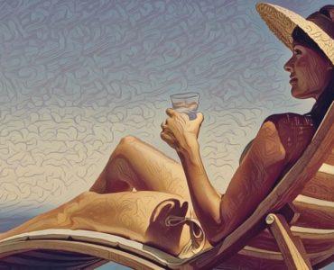 Mujer que sufre tanorexia u obsesión con el bronceado