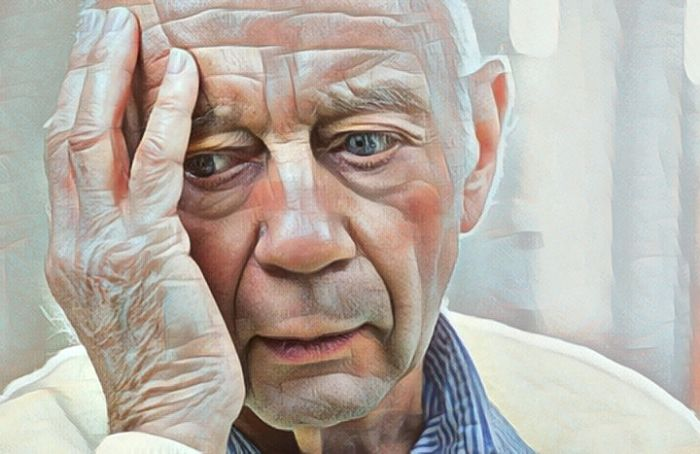 Hombre que padece demencia vascular
