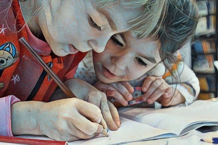 Niños en la escuela y los problemas de discalculia