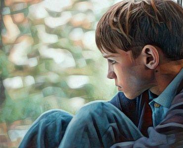 Niño afectado por la separación de los padres