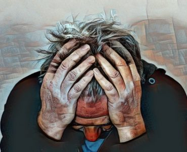 hombre que padece neurosis depresiva