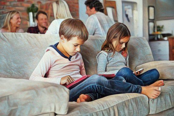 Niños con adicción al celular