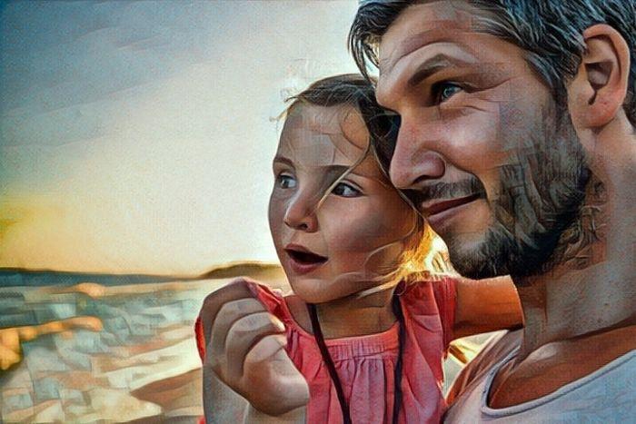 Padre poniendo límites a su hija
