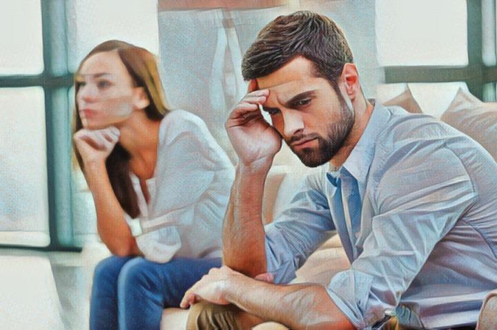 Una pareja en conflicto que ha perdido la paciencia antes que el amor