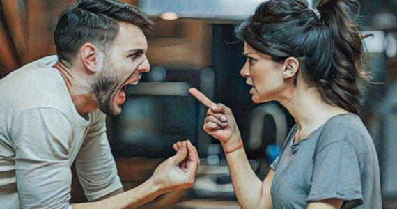 Una pareja discutiendo