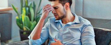 Hombre que experimenta emociones destructivas