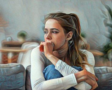 Mujer que sufre tocofobia