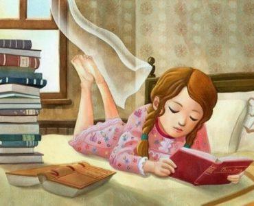 Niña leyendo libro