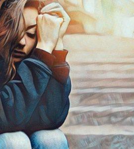 Mujer sufre depresión oculta