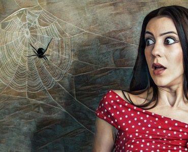 Mujer que sufre aracnofobia