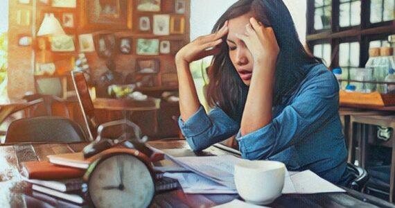 Mujer que padece ansiedad